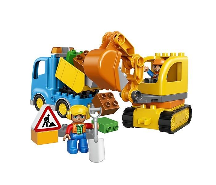 Конструктор Lego Duplo 10812 Лего Дупло Грузовик и гусеничный экскаватор