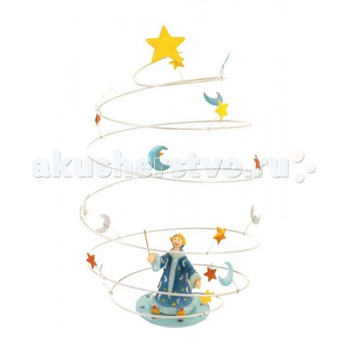 L'oiseau Bateau Подвесное украшение Волшебник спиральПодвесное украшение Волшебник спиральПодвесное украшение Волшебник спираль  Фантазийное подвесное украшение  в виде спирали наполнит любой интерьер атмосферой романтики, освежит его, добавит красок.  Послужит оригинальным подарком и ребёнку, для которого сможет стать источником вдохновения, и взрослому, которого сможет погрузить в мир прекрасных  грёз...  Каждая деталь выполнена из металла (сталь) французскими ремесленниками вручную  Размеры: 32,5 см В х 32,5 см Д х 29 см Ш<br>