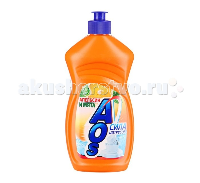 AOS Средство для мытья посуды Апельсин и мята 500 г
