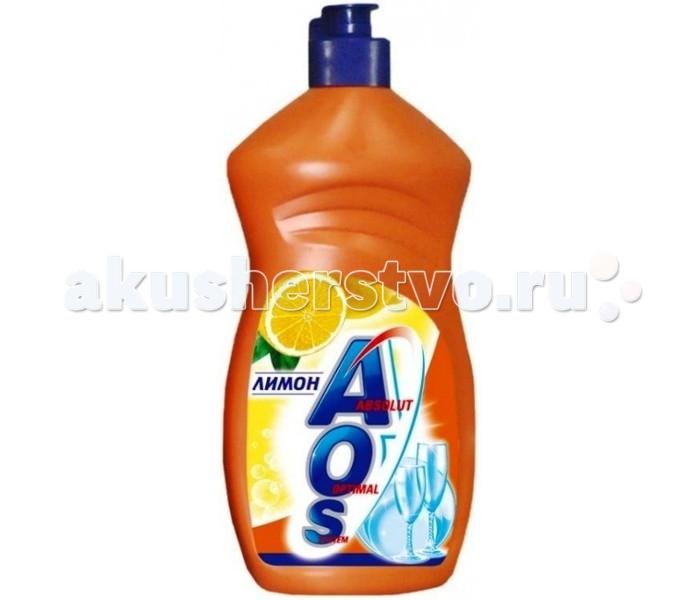 AOS Средство для мытья посуды Лимон 500 мл (улучшенная формула)