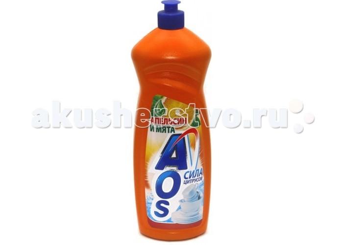 AOS Средство для мытья посуды Апельсин и Мята 1000 гСредство для мытья посуды Апельсин и Мята 1000 гСредство для мытья посуды жидкое AOS Апельсин и мята — цитрусовый аромат нейтрализует неприятные запахи, отлично пенится и легко смывается водой. Эффективно удаляет загрязнения даже в холодной воде. Придает посуде кристально чистый блеск. После ополаскивания не оставляет на посуде разводов.<br>