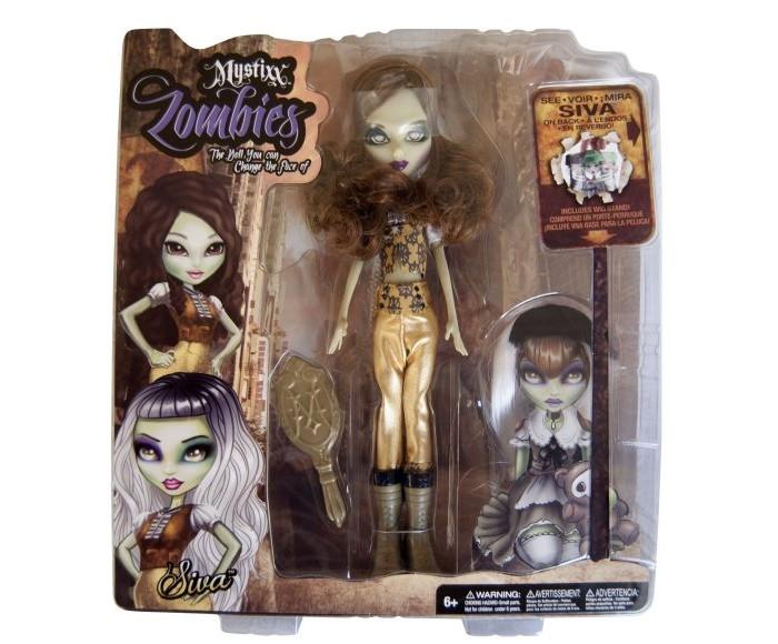 Mystixx Кукла Zombie СиваКукла Zombie СиваКукла мистикс зомби Сива   Кукла мистикс зомби Сива. Милая девочка в высоких карамельных ботфортах с блестящими волосами цвета шоколада. Как мило. Однако лишь посвященные люди знают, как обманчиво это первое мнение. Легким поворотом головы выражение лица куклы меняется, и она превращается в неимоверно опасную зомби, способную уничтожить неосторожного путника. Стильные аксессуары лишь дополнят перевоплощение. Безусловно, прекрасным дополнением является также то, что, изготовленная на основании проволочного каркаса и резинового корпуса кукла, обладает отличной гибкостью.<br>