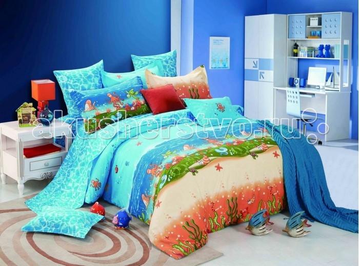 Постельное белье Dream Time Подводный мир (4 предмета)Подводный мир (4 предмета)Постельное белье Dream Time Подводный мир - это 1.5-спальный комплект постельного белья, который отвечает самым высоким стандартам качества.  Особенности: Изделия не вызывают аллергический реакций, для них используется 100% хлопок (сатин) и импортные красители Яркая цветовая гамма, современные, стильные и подходящие расцветки для мальчиков и для девочек Долговечное, прочное и износостойкое постельное белье  Размеры: Пододеяльник: 215х145 см Простыня: 235х150 см  Наволочки 2 шт: 50х70 см  Рекомендации по уходу: Постельное белье следует стирать при температуре 40 градусов Наволочки и пододеяльники следует стирать вывернутыми на изнаночную сторону Отжим в режиме 600 об/мин. Гладить при низкой и средней температуре Не использовать отбеливатели<br>