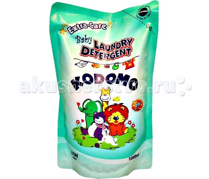 Kodomo Жидкое средство для стирки детских вещей мягкая упаковка дополнительный уход 1000 мл