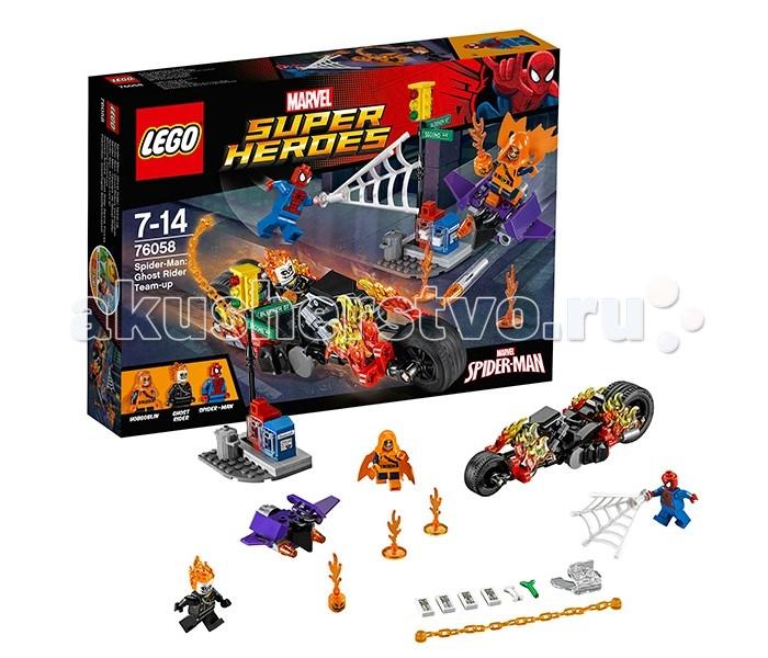 Конструктор Lego Super Heroes 76058 Лего Супер Герои Человек-паук: Союз с Призрачным гонщиком