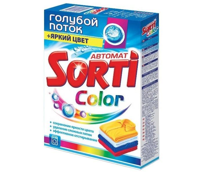 Sorti Стиральный порошок Color гролубой поток + Яркий цвет Автомат 350 г