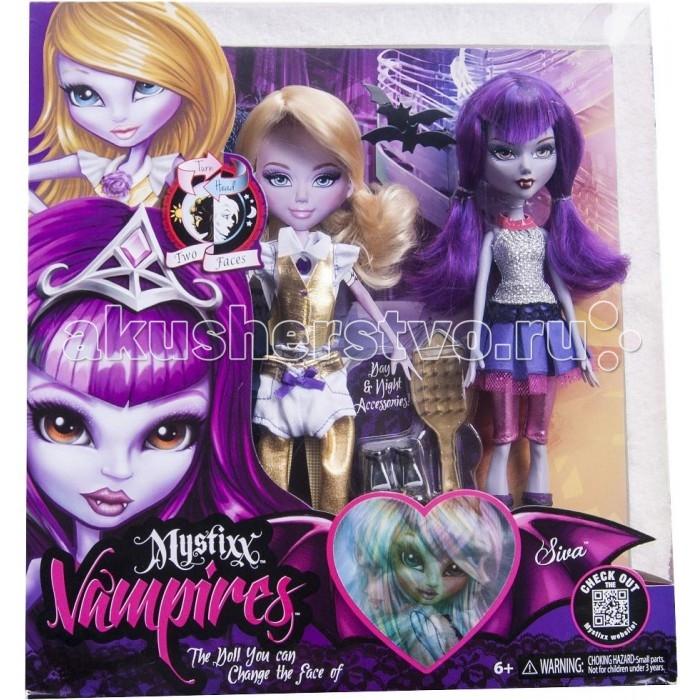 Mystixx Кукла Vampires Сива с одеждойКукла Vampires Сива с одеждойКукла мистикс вампир Сива с одеждой  Образ благовоспитанной девочки днем и опаснейшего вампира ночью создаст комплект одежды День - Ночь, предоставляемый к продаже вместе с куклой. Переодевая свою любимицу, маленькая хозяйка естественно разглядит и еще один ее секрет, состоящий в том, что с поворотом головы кукла меняет выражение своего лица, превращаясь из обычной девочки в опасного и непредсказуемого вампира.  Гибкость, достигнутая благодаря проволочному каркасу и резиновому корпусу, поможет Mystixx Vampires Siva учавствовать во всех забавах и проказах своей маленькой хозяйки.<br>