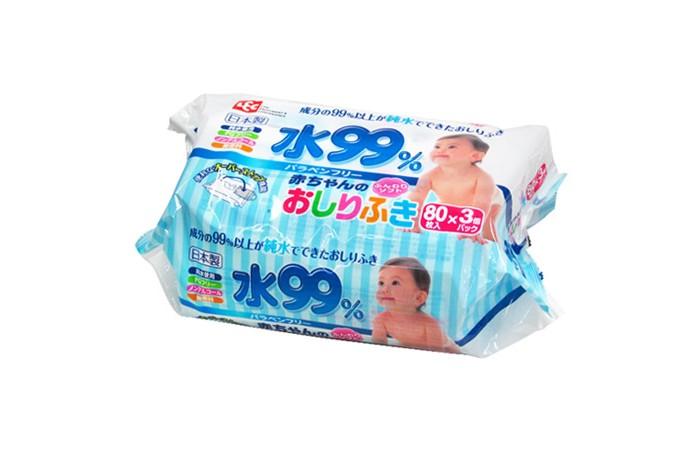 iPlus Влажные салфетки для новорожденных мягкая упаковка 3 х 80 шт.