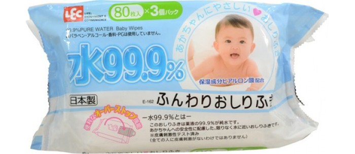 iPlus Детские влажные салфетки 99,9% воды для рук и лица мягкая упаковка 80 шт.