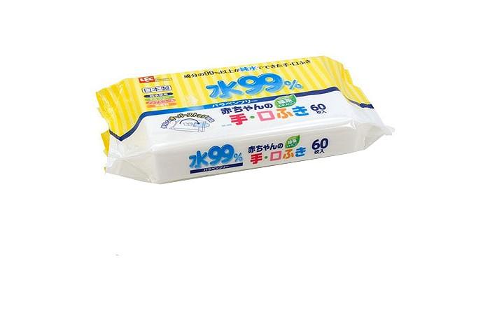 iPlus Детские влажные салфетки 99,9% воды для рук и лица 60 шт.
