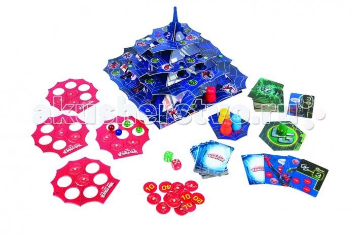 Step Puzzle Настольная игра Тайны небоскрёбов Человек ПаукНастольная игра Тайны небоскрёбов Человек ПаукStep Puzzle Настольная игра Тайны небоскрёбов Человек Паук — настольная игра-бродилка для всей семьи. Развивающая игра в виде объемной пирамиды позволит с пользой провести время с ребенком. Уникальная 3D-форма пирамиды позволяет играть не в одномерной плоскости, а в трехмерном пространстве. Развивает мелкую моторику, память и внимание. Разработана ведущими детскими психологами и педагогами.  Что полезного в игре? развивает мелкую моторику, память и внимание дает представление о цифрах и счете тренирует глазомер  Что в наборе? пирамида карточки-паутины (4 шт.) карточки событий (32 шт.) («Человек-паук» — 16 шт.; «Зеленый гоблин» — 16 шт.) жетоны с цифрами (42 шт.) фишки (4 шт.) фишка «Зеленый гоблин» (1 шт.) стеклянные шарики (4 шт.) кубики (2 шт.) подставка «Старт» (1 шт.) стартовая подставка «Зеленый гоблин» (1 шт.) правила игры.  Как играть? Подготовка к игре. 1. Собрать пирамиду. 2. Каждому игроку взять карточку-паутину, шарик и фишку. 3. Накрыть шарик фишкой и установить на подставку «Старт». 4. Жетоны разложить цифрами вниз. 5. Карты событий разложить в две стопки по 16 шт. — «Человек-паук» и «Зеленый гоблин». 6. Установить фишку «Зеленый гоблин» на его стартовую подставку.  Ход игры. Участники определяют очередность хода. Игру начинает «Зеленый гоблин». Первый по очереди игрок снимает верхнюю карту с колоды и устанавливает фишку «Зеленого гоблина» согласно заданию карты. Затем друг за другом бросают кубик и в зависимости от количества очков, начинают по очереди передвигать свои фишки вверх по ярусам к вершине пирамиды. Двигаться можно только против часовой стрелки. Цель игры — первым дойти до вершины пирамиды и набрать наибольшее количество очков.  Возраст игроков Игра предназначена для детей от 7 лет.  Количество игроков Оптимальное количество участников — от 2 до 4 человек.  Время игры Время игры зависит от количества и возраста участников. Среднее время иг