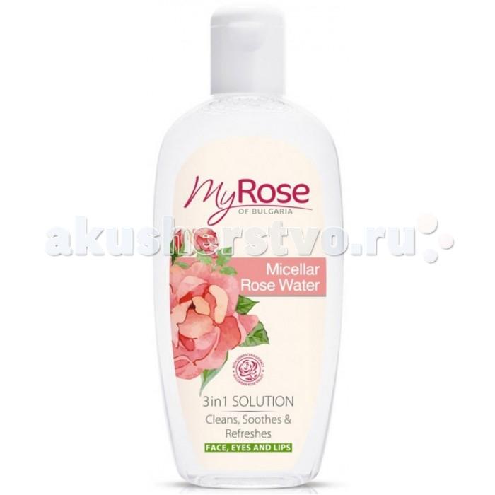 My Rose Розовая вода для лица 220 млРозовая вода для лица 220 млРозовая вода для лица это эффективное средство для глубокого очищения кожи и снятия макияжа, основу которой составляют мицеллы жирных кислот. Они представляют собой кристаллы микроскопических размеров, плавающие в жидкости, которые при попадании на кожу притягивают жир вместе с впитавшейся грязью, не повреждая эпидермис и не оказывая на него пересушивающего действия. Этим она отличается от мыла или других очищающих средств, в состав котрых входят. Помимо этого мицеллярная вода обладает свойствами тоника.  Она одновременно очищает, освежает и успокаивает кожу лица. Розовая вода предназначена для ежедневного ухода и легко справляется даже с удалением декоративного макияжа, в том числе водоустойчивого.  Все ингредиенты, составляющие основу розовой воды, не влияют на нормальный физиологический уровень рН кожи.  В состав средства входит натуральный экстракт розы, обладающий успокаивающими и регенерирующими свойствами.<br>