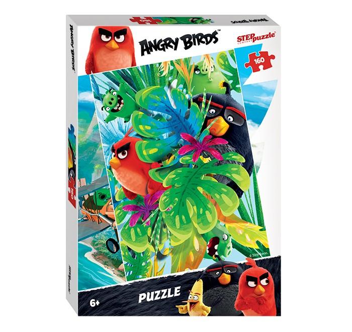 Step Puzzle Пазл Angry Birds 160 элементовПазл Angry Birds 160 элементовStep Puzzle Пазл Angry Birds 160 элементов  Это большой пазл, который состоит из 160 деталей – вполне возможно, что новичкам и маленьким детям будет довольно сложно собрать такую большую головоломку. Готовая картинка порадует детей изображениями сердитых птичек и вредных свинок, которые прячутся за широкими листьями дерева. Готовая работа украсит любую комнату и станет предметом гордости для ребенка.  Возраст: от 6 лет Количество деталей: 160 Размер картины: 34.5 х 24 см<br>
