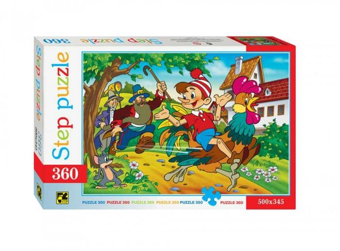 Step Puzzle Пазл Буратино 360 элементовПазл Буратино 360 элементовStep Puzzle Пазл Буратино 360 элементов  Пазл Буратино создан по мотивам одноименной детской сказки. Собрав все детальки пазла у вас получится красочная картинка на которой изображен главный персонаж сказки. Элементы пазла размером 1.5 х 1.5 см выполнены из плотного картона с глазурированной поверхностью, с легкостью соединяются между собой не деформируясь и не расслаиваясь при этом. Процесс сборки пазла необычайно увлекателен и интересен, собирать картинку-пазл будет интересно как детям, так и взрослым. Собранную картинку можно склеить скотчем или клеем, а затем повесить на стенку или поставить на стол.  Возраст: от 6 лет Количество деталей: 360 Размер картинки: 50 х 34.5 см<br>