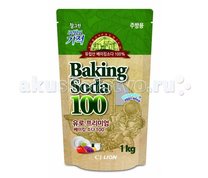 CJ Lion Чудо-средство Chamgreen чистящее средство 100% пищевая сода пакет 1 кг