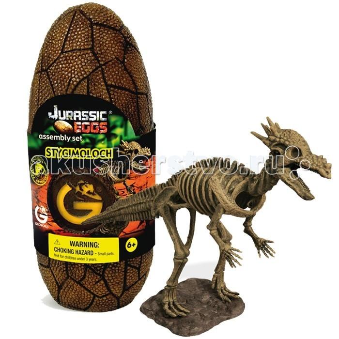 Конструктор Geoworld Сборная модель динозавра в яйце Jurassic eggs - Стигимолох?талейТравоядный динозавр стигимолох обладает интересной внешностью. Этот травоядный ящер защищался от хищников большой рогатой головой, при этом рога находились в задней части черепа. Высочайшее качество сборной модели стигомолоха из набора Jurassic Eggs подтверждена репутацией бреда Geoworld. Этой компанией управляет доктор палеонтологии, который лично участвует в разработке каждой модели. Детали для сборки скелета стигомолоха находятся в стилизованой упаковке — яйце. Сборка палеонтологической модели подогреет интересы юного ученого, позволит тренировать моторику, пространственное мышление и внимательность.  Основные характеристики:  Размер коробки: 7.5 х 19.5 х 7 см Длина собранной модели: 28 см Количество деталей: 14 шт.<br>
