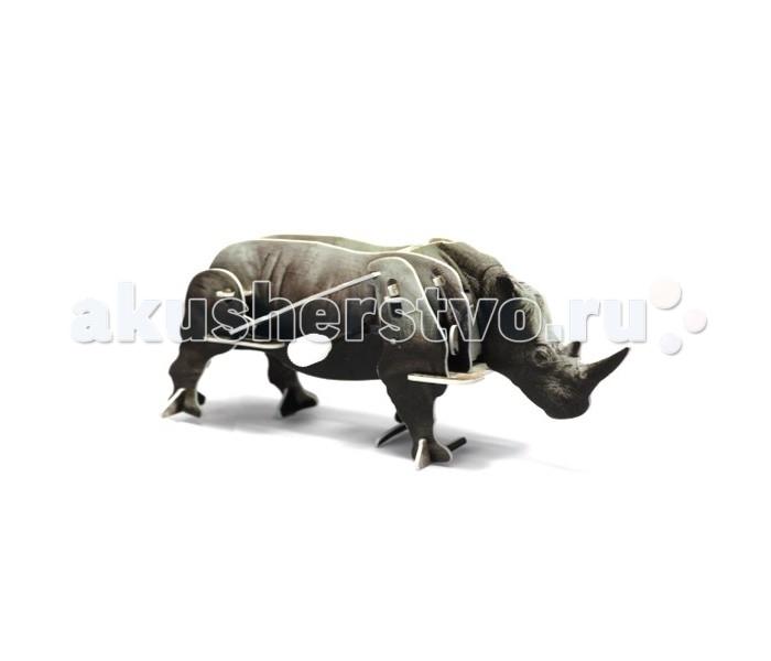 Конструктор UF Заводной 3D-пазл НосорогЗаводной 3D-пазл НосорогФигурку заводного носорога из этого набора ребенку предлагается собрать своими руками. Для сборки используются прочные пластиковые детали, которые вставляются друг в друга без клея. Интересный момент: в конструкции присутствует заводной механизм. Именно он будет заставлять фигурку перебирать ногами и двигаться. Сборка пазла тренирует пространственное мышление, воображение и моторику пальцев, а с готовой фигуркой интересно играть.  Комплект:   Детали для сборки;  Заводной механизм;  Основные характеристики:  Размер упаковки: 13.5 x 12.5 x 2 см Вес: 50 г<br>