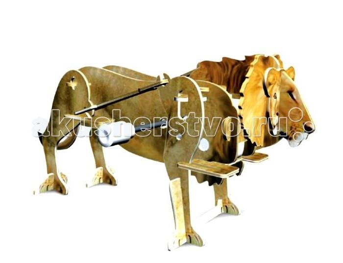 Конструктор UF Заводной 3D-пазл ЛевЗаводной 3D-пазл ЛевЗаводной 3D-пазл Лев - это увлекательная головоломка с интересной функцией. Для начала ребенку нужно будет своими руками собрать объемную фигурку льва из деталей для сборки объемного пазла. Детали созданы из пластика, вырезаны лазером. Собираются они без клея – достаточно вставить детали в специальные пазы. К пазлу присоединяется маленький заводной механизм. Именно он может привести фигурку в движение. И собранный объемный лев будет перебирать лапами, пока не кончится завод!  Комплект:   Детали для сборки;  Заводной механизм;  Основные характеристики:  Размер упаковки: 13.5 x 12.5 x 2 см Вес: 50 г<br>