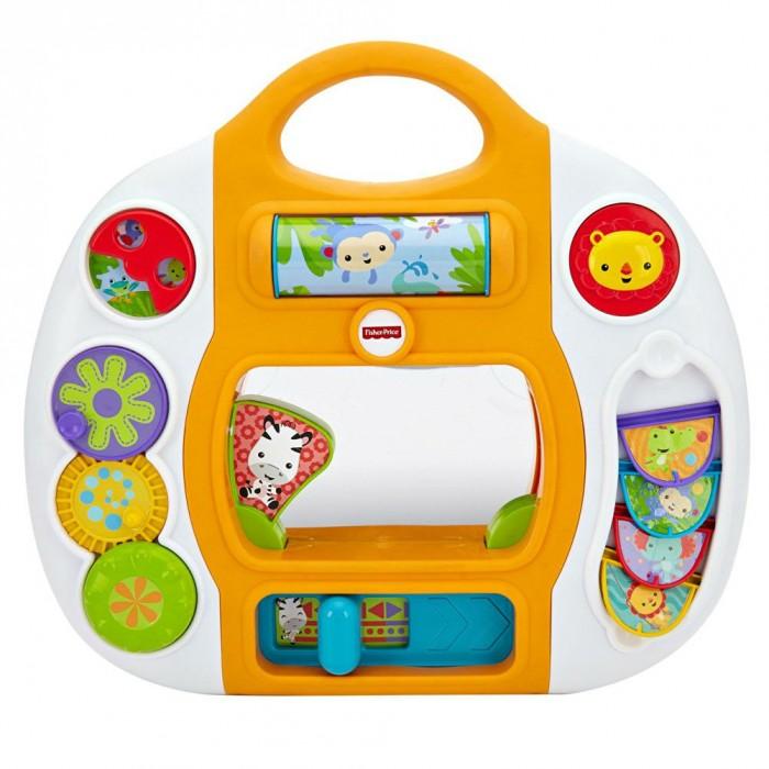 Развивающая игрушка Fisher Price Mattel Игровая панель Друзья из тропического лесаMattel Игровая панель Друзья из тропического лесаРазвивающая игровая панель Друзья из тропического леса с привлекательным дизайном и функциональными элементами, которые можно крутить, выдвигать и задвигать, открывать и закрывать.   Посередине расположено безопасное зеркало, в котором малыш сможет разглядывать свое отражение.   Отличная возможность подарить своему ребенку массу положительных эмоций.  Игрушка способствуют зрительному и тактильному развитию малыша, развитию воображения, двигательных навыков, мелкой моторики.<br>