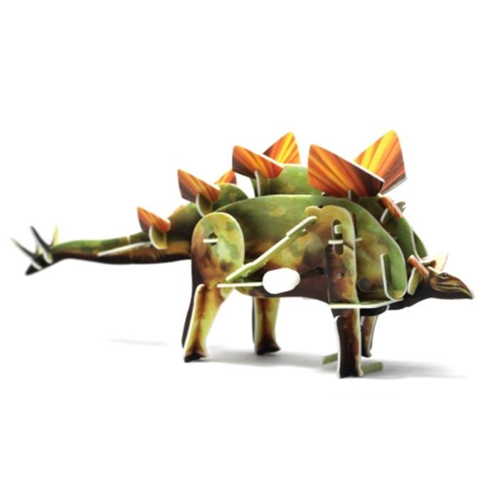 Конструктор UF Заводной 3D-пазл Стегозавр