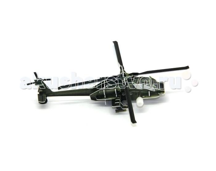 Конструктор UF Заводной 3D-пазл ВертолетЗаводной 3D-пазл ВертолетОбъемный 3D-пазл Вертолет - это интересная головоломка с функцией движения. Вертолет собирается из пластиковых деталей, которые предварительно выдавливаются из специальных листов. Сборка осуществляется без клея, она проста и понятна даже для 6-ти летних детей. Обязательно к вертолету нужно присоединить колеса и вставить маленький моторчик, который по сути является заводным механизмом. После этого игрушка-пазл сможет ездить. Для этого нужно лишь покрутить ручку завода и отпустить игрушку.  Комплект:   Детали для сборки;  Заводной механизм;  Основные характеристики:  Размер упаковки: 13.5 x 12.5 x 2 см Вес: 50 г<br>