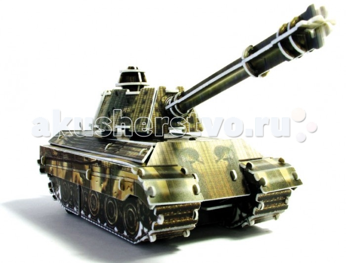 Конструктор UF Заводной 3D-пазл ТанкЗаводной 3D-пазл ТанкЭта игрушка интересна тем, что сочетает объемный пазл и подвижный механизм, благодаря которому она может перемещаться! Из 72 пластиковых разноцветных деталей собирается модель военного танка по принципу пазового крепления. В нее вставляется заводной ключ, покрутив который, вы приведете танк в движение — и он поедет вперед, наступая на невидимого врага!  Комплект:   Детали для сборки;  Заводной механизм;  Основные характеристики:  Размер упаковки: 13.5 x 12.5 x 2 см Вес: 50 г<br>