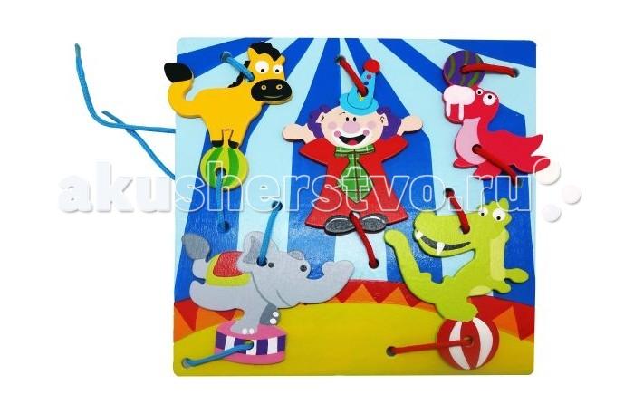 Деревянная игрушка Mapacha Шнуровка КлоуныШнуровка КлоуныДеревянная игрушка Mapacha Шнуровка Клоуны представляет собой занимательную игрушку, которая состоит из основной фигуры и фигурных деталей игры.  Особенности:  Это очень занимательное и увлекательное занятие для ребенка, оно очень полезно для его развития, логики, цветовосприятия и памяти.  Дети любят привязывать, развязывать шнурки и всякого рода веревочки, поэтому данная игрушка очень понравится ребенку и увлечет его.<br>