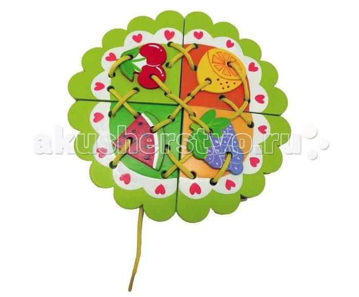 Деревянная игрушка Mapacha Шнуровка ФруктыШнуровка ФруктыДеревянная игрушка Mapacha Шнуровка Фрукты представляет собой занимательную игрушку, которая состоит из основной фигуры и фигурных деталей игры.  Особенности:  Это очень занимательное и увлекательное занятие для ребенка, оно очень полезно для его развития, логики, цветовосприятия и памяти.  Дети любят привязывать, развязывать шнурки и всякого рода веревочки, поэтому данная игрушка очень понравится ребенку и увлечет его.<br>