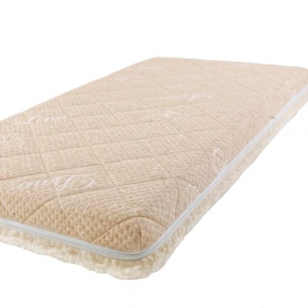 Матрас Babysleep класса Люкс BioForm Cotton 140x70класса Люкс BioForm Cotton 140x70Детский матрас класса Люкс BioForm Cotton 140x70   Жесткая сторона состоит из 100% натурального материала – кокосового волокна (кокосовая плита от Enkev, Голландия) с латексной пропиткой - это увеличивает долговечность и придает детскому матрасу пружинящие свойства; отличается гигиеничностью, антиаллергенностью и естественной вентиляцией.  - Сторона средней жесткости – это блок Naturalform (производство GommaGomma, Италия) – обладает особой пористой внутренней структурой, благодаря чему прекрасно пропускает воздух.  Уникальные чехлы: внутренний и внешний:  Внутренний чехол (100% натуральный хлопок) надежно фиксирует компоненты детского матраса BabySleep «BioForm Bamboo», увеличивает срок его службы и позволяет комфортно использовать внешний чехол, без риска деформации матраса;  Внешний чехол с 3-сторонней молнией и удобными сторонами зима – лето: ЛЕТО - «Lino» высококачественная ткань итальянской фабрики «Stellini». Лен наиболее древний текстиль растительного происхождения, за его уникальные свойства лен называют золотом текстиля, так как в процессе использования не желтеет и не стареет. Волокно льна имеет прекрасные потребительские свойства: в 3 раза прочнее хлопка, устойчив к воздействию солнечного света, хорошо впитывает влагу и быстро ее отдает (высыхает). Лен - это чистота, нежность, надежность, комфорт и престиж.   ЗИМА - 100 % открытая тонкорунная шерсть мериноса, производства итальянской фабрики «Cafissi» Италия, с противомикробной и противоклещевой пропиткой (снижает риск возникновения аллергии).  Шерсть мериноса (за счет высокого содержания ланолина – животного воска) является природным антисептиком, укрепляет иммунную систему, способствует лучшей релаксации, снимает стресс. Малышу обеспечивается сухой и расслабляющий микроклимат в детской кроватке, поскольку шерсть отличается высокой гигроскопичностью и способна поглощать до 33-х% влаги от своего объема.  Размеры: 140х70х12