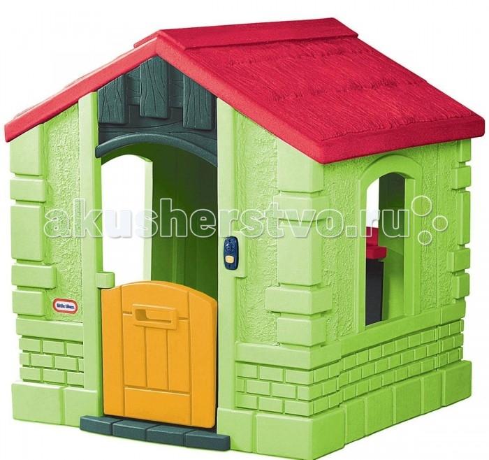 Игровой домик Little Tikes 172601172601Игровой домик зеленого цвета от Little Tikes (Литл Тайкс) для дома и улицы!  Домик сделан из высокопрочного материала, что позволит долгое время насладиться игрой с ним.   При входе расположен звонок с 6-ю различными мелодиями. У окошка есть небольшая мойка и плита. Внутри домика расположен импровизированный камин.  Звонок с 6 мелодиями (батарейки не входят в комплект) Выдерживает температуру до -18 С  Размер домика в собранном виде 118 х 101 х 112 см<br>