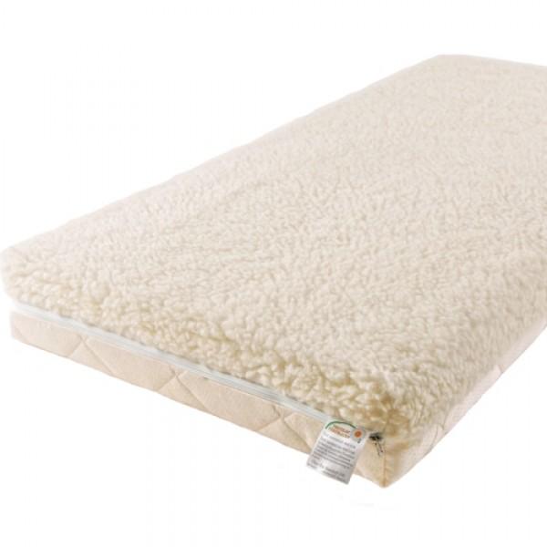 Матрас Babysleep класса Люкс BioLatex Cotton 125x65класса Люкс BioLatex Cotton 125x65Экологически чистый матрас класса Люкс BioLatex Cotton 125x65 для новорожденных двусторонней жесткости. Не имеет аналогов на российском рынке, отличается полным отсутствием в производстве клеевых материалов.  Жесткая сторона - 100% натуральный материал, кокосовая плита производства концерна ENKEV (Голландия), с полной латексной пропиткой, прочно скрепляющей кокосовые волокна, увеличивающей долговечность и придающей пружинящие свойства. Обладает естественной вентиляцией, гигиеничностью и антиаллергенностью.   Обеспечивает матрасу жесткость и долгий срок эксплуатации.  Основа матраса: блок «Naturalform», производства итальянской фабрики «GommaGomma: материал, имеющий специфическую пористую внутреннюю структуру, обладающий отличной воздухопроводимостью и гигиеничностью, отсутствием избыточной влажности и вредных микроорганизмов.   Мягкая сторона - латексная плита производства итальянской фабрики «Ecolatex». Эластичная, мягкая и гипоаллергенная, латексная пена оптимально адаптируется к форме тела и головы человека, производится из млечного сока бразильской гевеи.   Это идеальный материал для здорового и естественного сна, благодаря присутствию в структуре воздушных микро-сот, сообщающихся между собой и обеспечивающих отличную внутреннюю вентиляцию, гигиеничность и поддержание стабильного температурного фона.  Уникальные двойные чехлы являются отличительной особенностью матрасов «BabySleep».   Внутренний чехол из 100 % хлопка, фиксирующий компоненты матраса, увеличивает срок эксплуатации, позволяет безопасно снимать и надевать внешний чехол, без малейшего риска деформации или нарушения состава матраса, был специально разработан для компании «BabySleep».  Внешний чехол имеет трехстороннюю молнию, позволяющую максимально быстро и легко переворачивать чехол на любую сторону жесткости. Отличается повышенной комфортностью, благодаря функции «зима-лето».  Сторона «лето» - «Lino» высококачестве