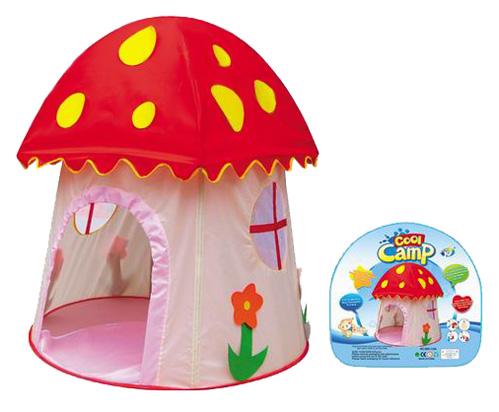 Yongjia Игровая палатка Гриб-лесной домикИгровая палатка Гриб-лесной домикFelice Игровая палатка Гриб-лесной домик в сумке для детей от 3х лет. Игровая палатка из легкой водонепроницаемой ткани, грязь легко смывается влажной тряпкой. Ткань из безопасного, экологически чистого материала, воздухопроницаемого.  Размер: 107 х 107 х 112 см<br>
