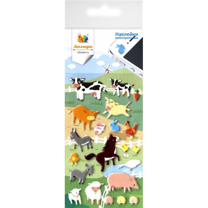 Липляндия Набор наклеек Животные на ферм