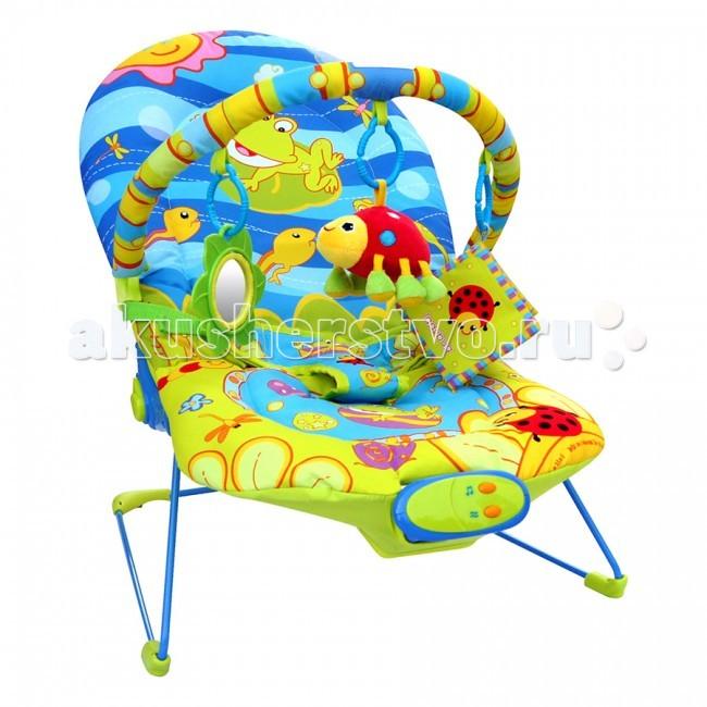 Кресла-качалки, шезлонги La-di-da Шезлонг Счастливый лягушонок 20208-2BR/31504
