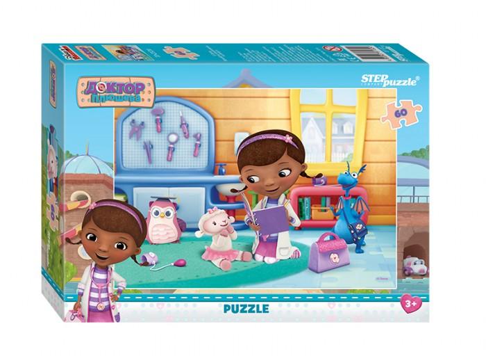 Step Puzzle Пазл Доктор Плюшева 60 элементовПазл Доктор Плюшева 60 элементовStep Puzzle Пазл Доктор Плюшева 60 элементов - это замечательная мозаика, которая понравится любому ребенку. На готовой картинке можно увидеть героев из знаменитого детского мультика, что еще сильнее обрадует малыша. Собирая мозаику, ребенок становится более внимательным и усидчивым, кроме того, развивается его логика мышления.  Возраст: от 3 лет Количество деталей: 60 Размер картинки: 33 х 23 см<br>