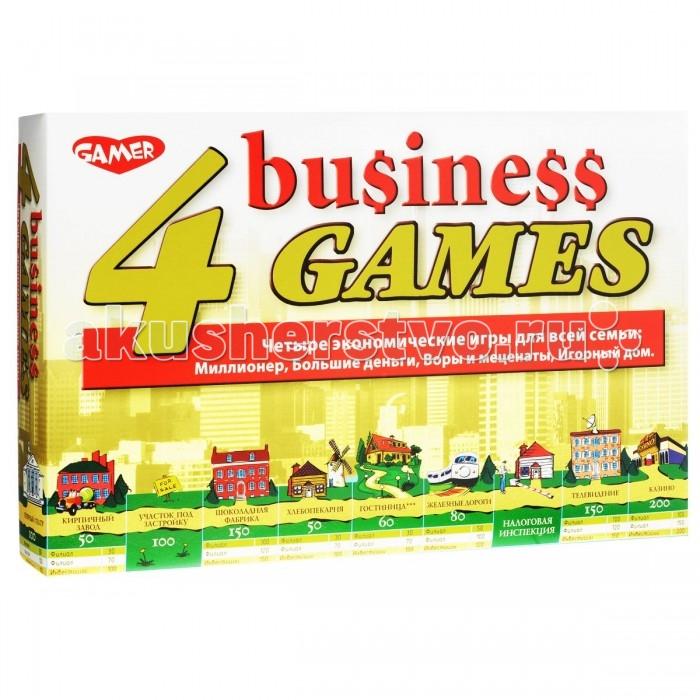 Dream makers Набор настольных игр 4 экономические игрыНабор настольных игр 4 экономические игрыВ игровой набор от Dream Makers входят сразу четыре экономические игры. По каждой игре внутри находятся подробные правила. Они хоть и в одной группе, но отличаются между собой, а значит каждый найдет что-то лучшее именно для себя. Игры помогут понять некоторые экономические принципы и правила, которые относятся и к реальной жизни. Кроме того, это отличный способ провести время.  В комплекте:   2 игровых поля; 44 карточки предприятий и участков; 10 карточек Joker; 20 карточек с репродукциями картин; 72 денежных банкнот; 1 игральный кубик;  4 игральные фишки.  Основные характеристики:  Размер упаковки: 36 x 24 x 6 см Размер игрового поля: 32 х 32 см Вес: 570 г<br>