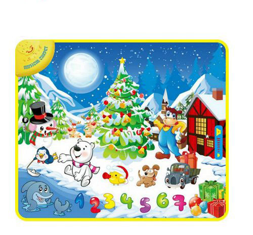 Обучающие плакаты Felice Развивающий коврик Зимний праздник