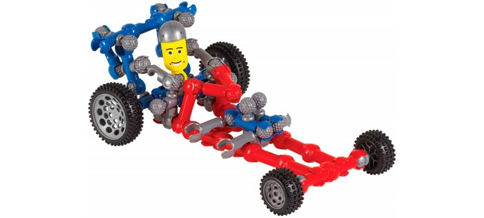 Конструктор Zoob Dragster 58 деталейDragster 58 деталейDragster конструктор созданный специально для детей, увлекающихся машинами и гонками.  В него входят три пары колес с настоящими резиновыми шинами, 4 средних и 2 больших колеса и 50 базовых деталей.  Конструктор со свободным соединением элементов, благодаря чему ребенок сможет создавать самые фантастические модели автомобиля, какие только сможет придумать.  Из элементов конструктора можно собрать не только машины, но и еще более сложные виды транспорта, например бортовой грузовик, квадроцикл, трактор, корабль, самолет и все, что подскажет фантазия.  Книжка с пошаговыми инструкциями поможет создать 12 моделей.<br>