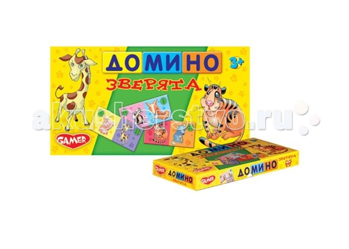 Dream makers Домино Зверята 28 костяшекДомино Зверята 28 костяшекДомино Зверята - это очень интересная и веселая игра с новым дизайном. Благодаря этой игре, ребенок учится счету и запоминает животных. Яркое оформление домино привлекает внимание малышей. Играть в домино следует минимум двум игрокам. Также использовать эти костяшки можно в ряде других игр. Например, игра башня, в которой каждый игрок кладет костяшку поверх костяшки своего противника. Тот, чья костяшка заставит рухнуть всю башню, будет считаться проигравшим. Подобная игра заинтересует не только детей, но и родителей.  В комплекте:   28 костяшек домино  Основные характеристики:  Размер упаковки: 30 х 5 х 15 см<br>