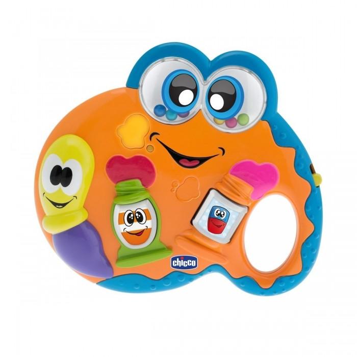 Музыкальная игрушка Chicco ПалитраПалитраChicco Игрушка музыкальная Палитра 07701  С такой игрушкой малыш почувствует себя настоящим художником!  Электронная игрушка со звуковыми и световыми эффектами позволит вашему малышу окунуться в мир искусства. Нажмите на тюбики с краской, чтобы активировать забавные мелодии и огоньки. Данная игрушка способствует развитию мелкой моторики и координации движений.<br>