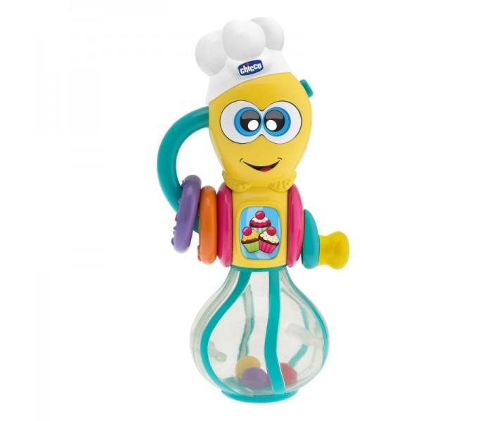 Музыкальная игрушка Chicco Венчик Мутовка 6+Венчик Мутовка 6+Chicco Игрушка музыкальная Венчик 6-36 месяцев 07703  Электронная игрушка со звуковыми и световыми эффектами позволит вашему малышу окунуться в мир кулинарии! С такой игрушкой малыш почувствует себя настоящим шеф-поваром!   Поверните венчик шляпка загорится, а цветные шарики начнут вращаться.  Игрушка развивает мелкую моторику и координацию движений.  Работает от 3 батареек LR44 (входят в комплект) Размер: 8 x 19 x 7 см<br>