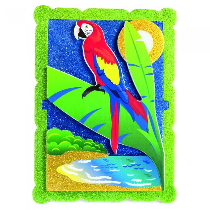 Pic`n Mix Аппликация Попугай в тропикахАппликация Попугай в тропикахPic`n Mix Аппликация Попугай в тропиках - это объёмная красочная картина.  Особенности: Наборы для творчества позволяют ребенку развивать воображение, пространственное мышление, внимательность, аккуратность и трудолюбие, они также помогают тренировке навыков зрительного восприятия, координации движений и памяти. Аппликация даёт прекрасную возможность маленьким художникам создавать красивые подарки для своих близких. Наборы предназначены для детей от 3-х лет.  Размеры: 25х16 см<br>