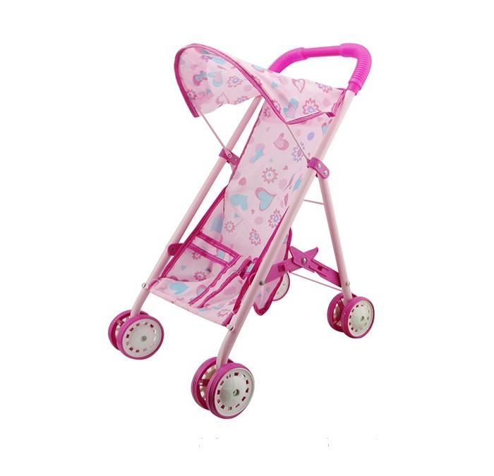 Коляска для куклы 1 Toy прогулочная Т58752прогулочная Т58752Коляска для куклы 1 Toy прогулочная Т58752  С прогулочной коляской для кукол Красотка девочка сможет ощутить себя в роли старшей, заботящейся о малыше.  Особенности: Чехол коляски выполнен из качественного текстиля розового цвета с принтом в виде цветочков и сердечек; колеса, рама и ручка игрушечного транспортного средства сделаны из пластика.  Посадив в коляску любимую куклу, девочка сможет играть дома или на улице. Игрушка создана для сюжетно-ролевой игры, в процессе которой у ребенка будут формироваться навыки заботы о младших, самостоятельность и ответственность.   Подходящий размер куклы: около 30 см.<br>