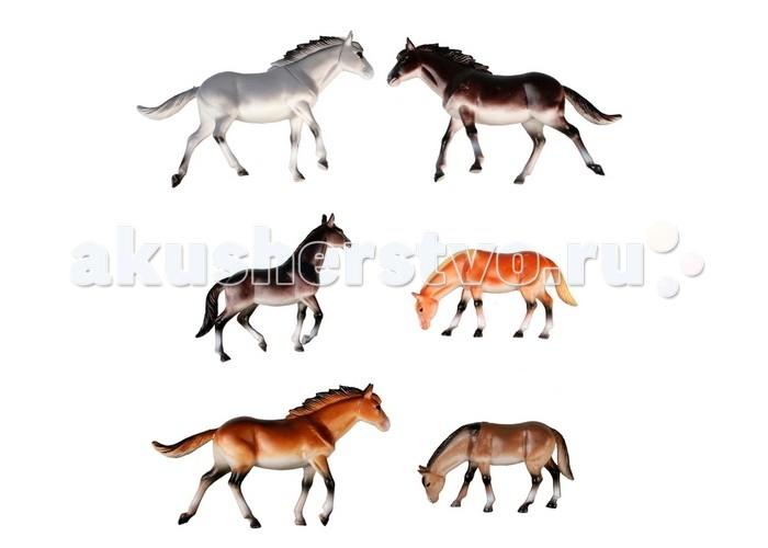 1 Toy Набор фигурок В мире животных Лошади 6 шт.