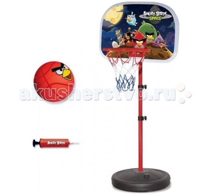1 Toy Баскетбольная стойка с кольцом и мячом Angry Birds Баскетбольная стойка с кольцом и мячом Angry Birds Т56283
