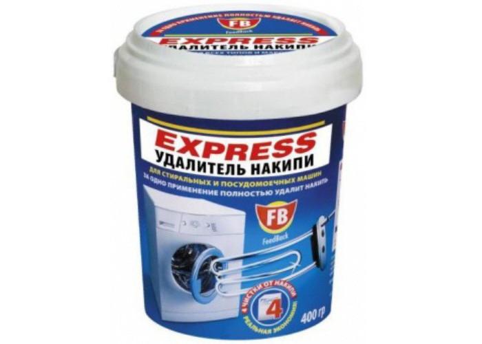 Feed Back Express удалитель накипи для стиральных и посудомоечных машин 400 гExpress удалитель накипи для стиральных и посудомоечных машин 400 гFeed Back Express удалитель накипи для стиральных и посудомоечных машин 400 г  для стиральных и посудомоечных машин. Уникальная формула средства создана на основе натуральной лимонной кислоты, безвредной для человека.  Feed Back Express удалитель накипи для стиральных и посудомоечных машин 400 г  удаляет накипь с нагревательных элементов и внутренних деталей стиральных и посудомоечных машин за одно применение. Одной банки хватает на 4 чистки от накипи.<br>