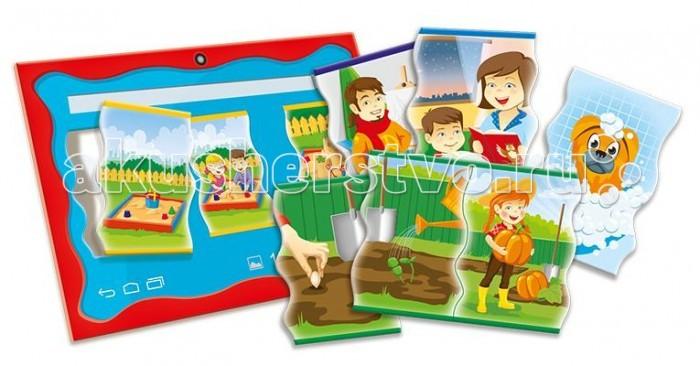 Развивающая игрушка Trefl Что за чемЧто за чемНастольная игра Trefl Что за чем — это по-настоящему интересная настольная игра для детей любых возрастов. Ребенку необходимо сложить из предложенных изображений последовательный рассказ. То есть, что за чем следовало.   Игра разовьет у него память, логическое мышление, наблюдательность, внимательность, научит анализировать полученную информацию.   Внутри вы найдете красочные карточки с картинками, с которыми ребенку и предстоит работать.  Игра предназначена для детей от 3 лет.  Размер упаковки: 28,8х19,3х4,1 см.<br>