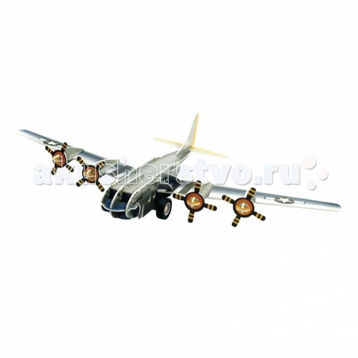 Конструктор IQ 3D Пазл Бомбардировщик B-17 инерционный 38 элементов3D Пазл Бомбардировщик B-17 инерционный 38 элементовIQ 3D Пазл Бомбардировщик B-17 инерционный 38 элементов FT20001  3D пазл Бомбардировщик В-17 от компании IQ Puzzle позволяет ребенку самому создать игрушку, что несомненно сделает ее более интересной. Реалистичная конструкция в виде военного самолета состоит из пластиковых деталей с отверстиями и выемками, сборка не требует использования клея или другого инструмента. Модель оснащена подвижной колесной базой и инерционным моторчиком. Такая награда за старания обязательно понравится малышу. Все элементы 3D пазла выполнены из безопасных материалов. Головоломка хорошо развивает образное мышление, зрительное восприятие и моторику рук.   Размер готовой игрушки: 12.2 см.<br>