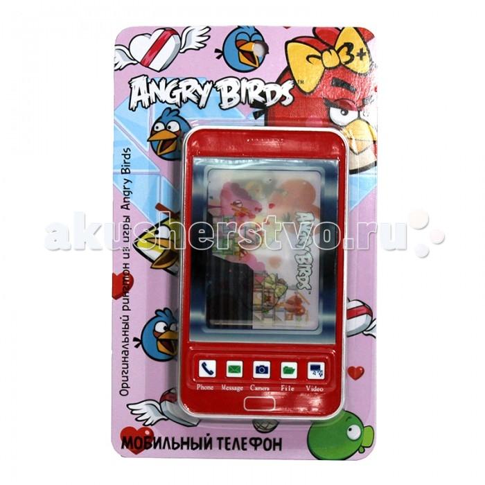 1 Toy Детский мобильный телефон Angry Birds Т55639