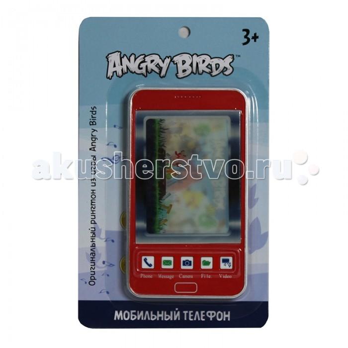 1 Toy Детский мобильный телефон Angry Birds Т55640Детский мобильный телефон Angry Birds Т556401 Toy Детский мобильный телефон Angry Birds Т55640 дизайн которого в точности повторяет настоящий смартфон.  Особенности: Корпус телефона - красного цвета, а задняя панель - черного.  Также имеется стилус как у настоящего гаджета.  Игрушка обладает звуковым эффектом, при нажатии на кнопки раздаются звуки и музыка из мобильной игры про сердитых птичек.  На цветном дисплее 3 раза меняются стереокартинки с мультяшными персонажами. С такой стильной игрушкой ребенок весело проведет время.  Размер игрушки: 8.2 х 14.5 см<br>